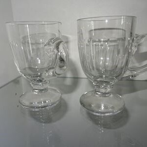 2 Gløgg / grogg glas i gennemsitgig glas