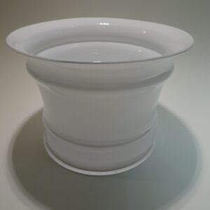 MB, stor hvid glas urtepotte, Holmegaard Michael Bang