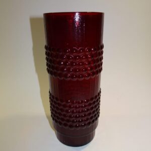 Gunnar Ander, rød glas vase, svensk
