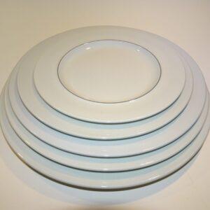 Blåkant, tallerken, Kongelig porcelæn.