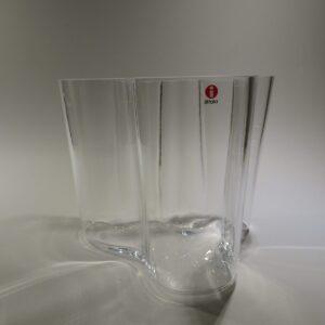 Alvar Aalto Savoy vase klart glas Iittala