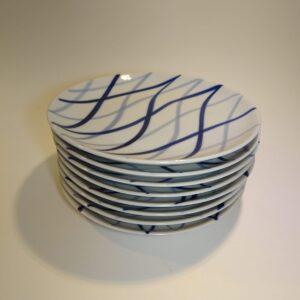 Harlekin Danild flad tallerken Lyngby Porcelæn