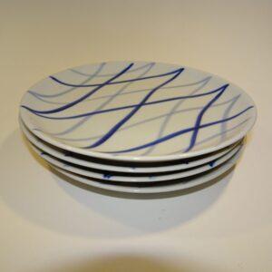Harlekin Danild flade tallerkener Lyngby Porcelæn