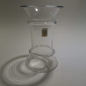 MB, lille vase, Holmegaard. Klart glas.