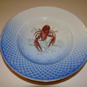 Mågestel, frokost, tallerken med hummer, B&G