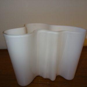 Alvar Aalto, hvid vase 16 cm, Iittala, Savoy