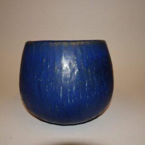 Flot blå keramik krukke af Gunnar Nylund