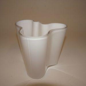 Alvar Aalto hvid Savoy vase Iittala