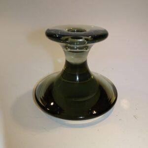Røgfarvet glas lysestage Holmegaard