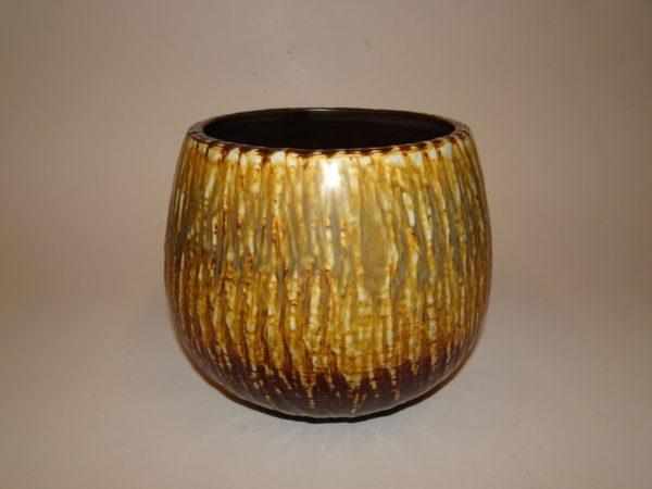 Gunnar Nylund, keramik krukke, Rörstrand. Smuk gylden brun glasur.