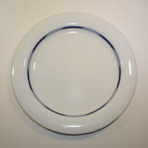 Sirius Alev Siesbye Royal Copenhagen middagstallerken. Lys tallerken med blåt.
