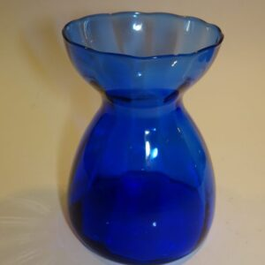 Hyacintglas blåt glas gammel