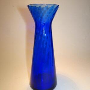 Hyacintglas i smuk blå farve fra Holmegaard