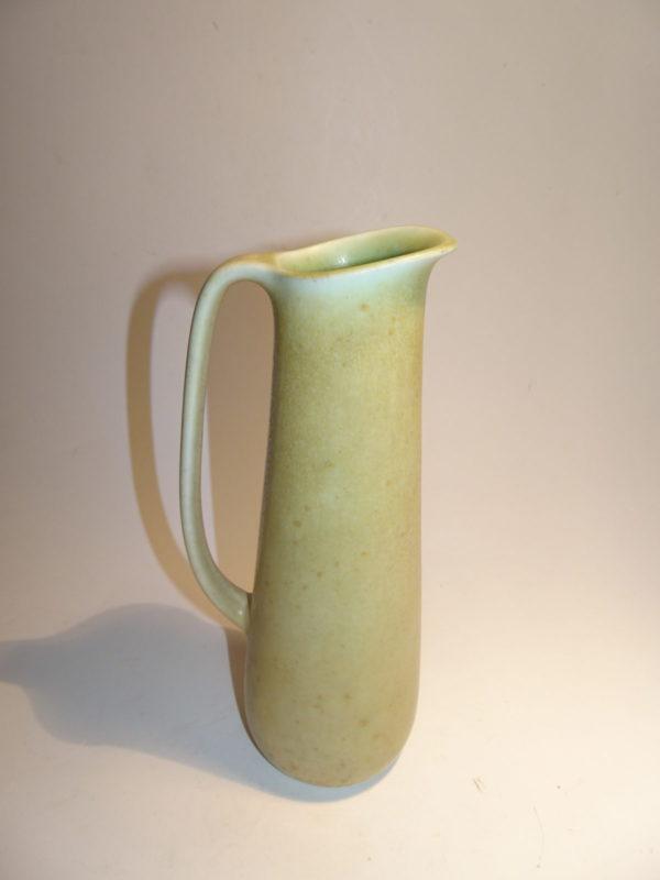 Carl-Harry Stålhane, keramik kande, Rörstrand. Lys grøn mat glasur