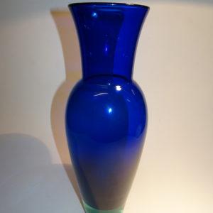 Harlekin, glas vase, farve blå, Holmegaard