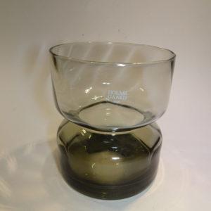 Bulb, amaryllis vase, Holmegaard. Klart glas, røgfarvet.