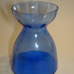 Klar blå glas til hyasinter.