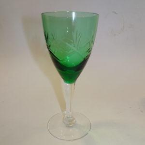 Ulla grønt hvidvins glas Holmegaard