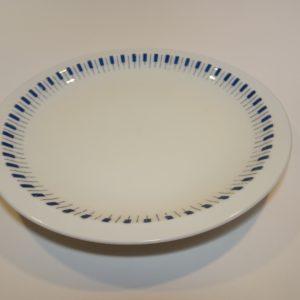 Tangen flad tallerken, Lyngby Porcelæn