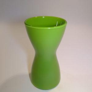 Quadro lysestage og vase i et, græsgrøn, Holmegaard