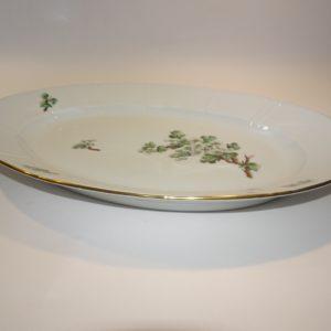 Eremitage middags tallerken, 25 cm, med hvidtjørn motiv fra Bing & Grøndahl