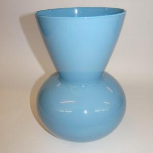 Kairo vase i smuk blå farve, Holmegaard, 20 cm