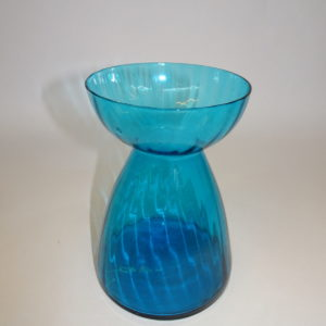 Hyacintglas i lys petroleumsfarve, svenskt