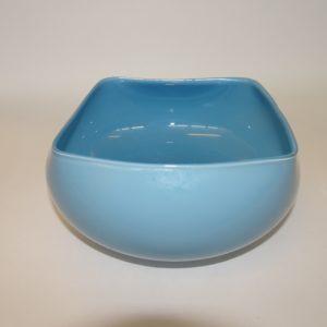 Quadro skål i lys petroleumsblå farve, 13 x 13 cm, Holmegård