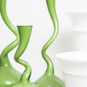 Kunstglas (vaser, skåle, lysestager o.l.)