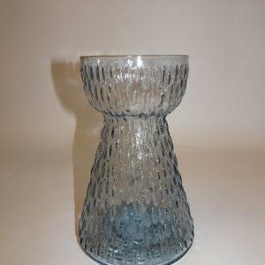 Hyacintglas i vandblåt nupret glas, svensk