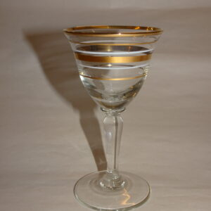 Hedvinsglas med guld striber