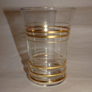 Vandglas med striber i guld