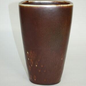 Caræ-Harry Stålhane vase i matbrun glasur, Rörstrand